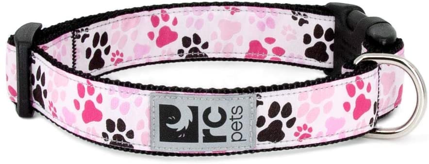 RC Pet Products Clip Dog Collar, Pitter Patter Pink Image
