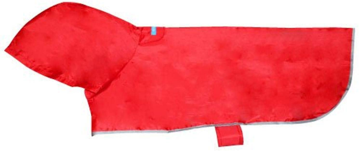 RC Pet Products Packable Rain Dog Poncho, Crimson, Large