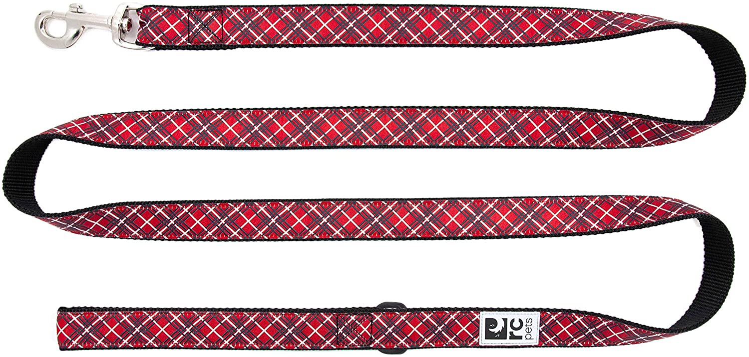 RC Pet Products Dog Lead, Red Tartan, 3/4-in x 6-ft