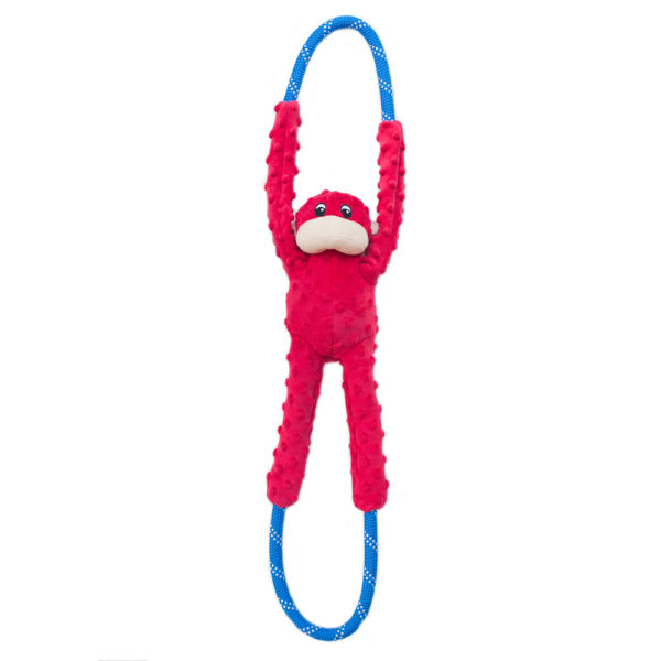ZippyPaws Monkey RopeTugz Dog Toy, Red