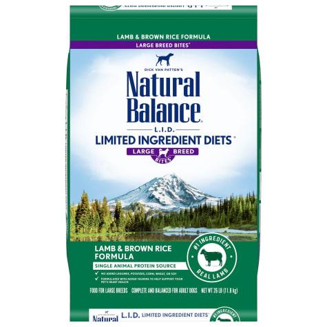 Natural Balance L.I.D. Limited Ingredient Diets Lamb Meal & Brown Rice Formula Large Breed Bites Dry Dog Food, 26-lb