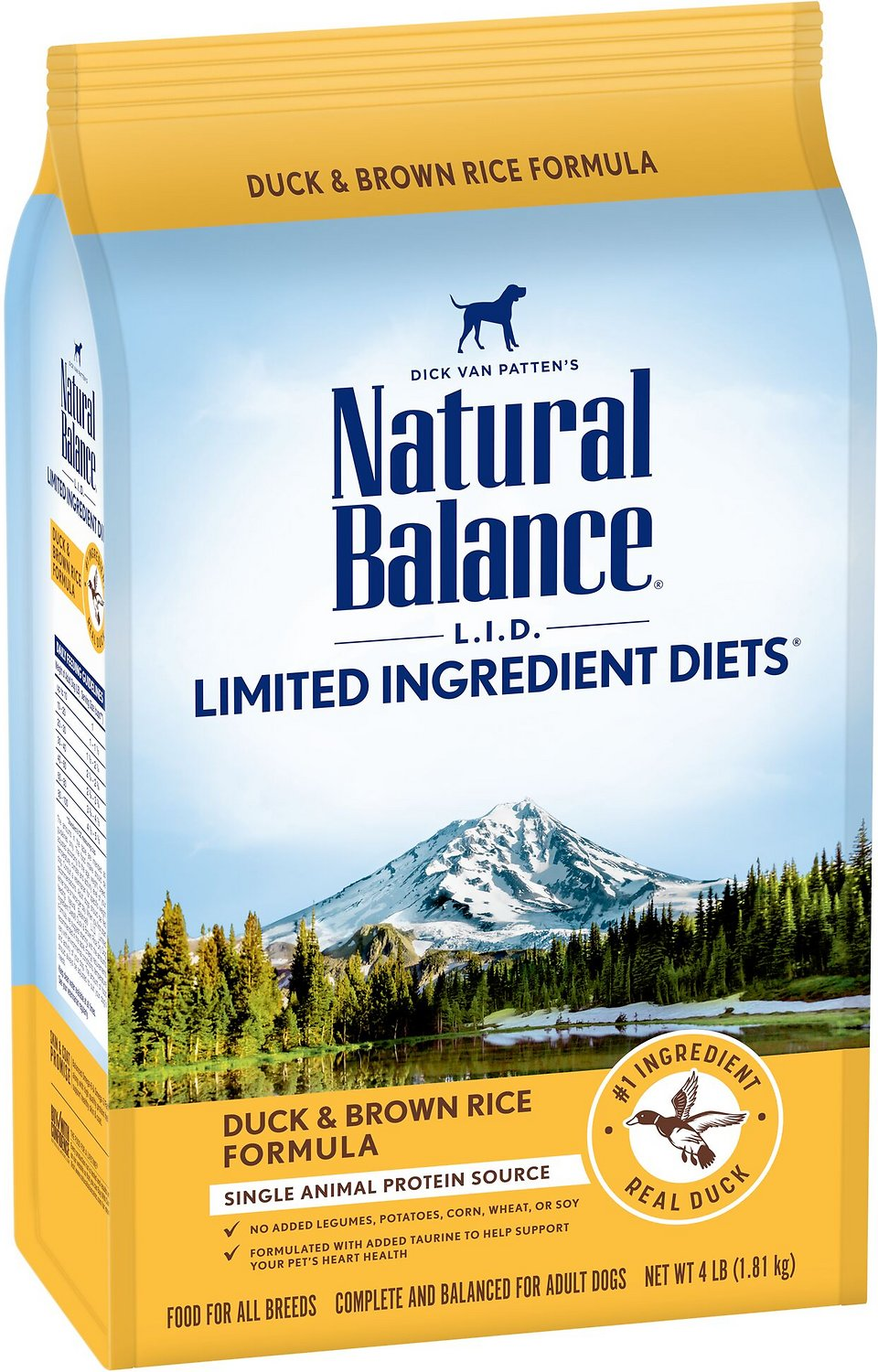 Natural Balance L.I.D. Limited Ingredient Diets Duck & Brown Rice Dry Dog Food, 24-lb
