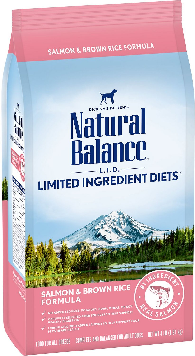 Natural Balance L.I.D. Limited Ingredient Diets Salmon & Brown Rice Dry Dog Food, 4-lb