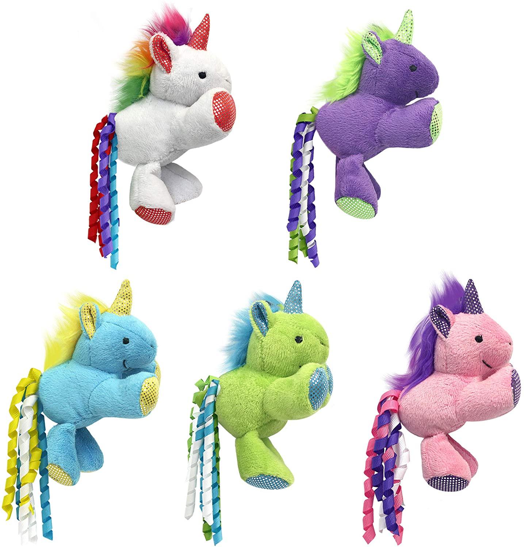 Multipet Unicorn Catnip Cat Toy, Assorted Colors, 3-in