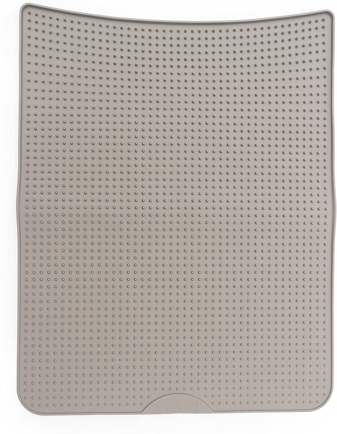 Messy Cats Silicone Cat Litter Mat, Grey