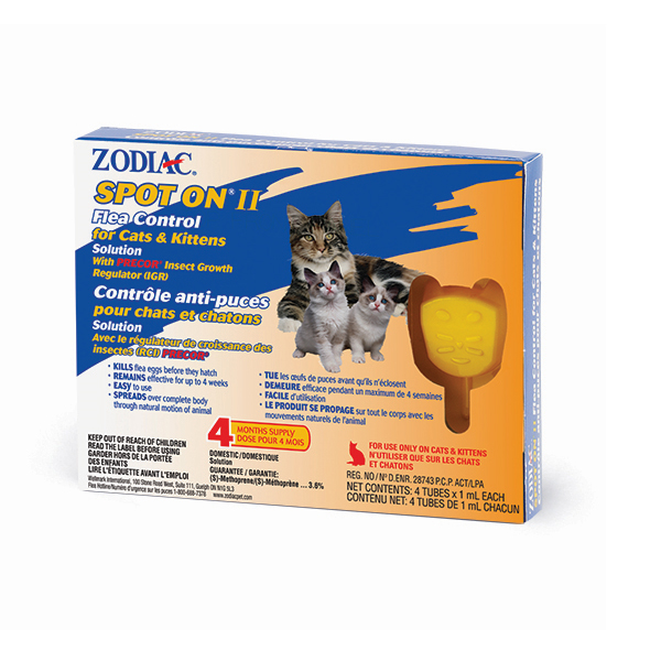 Zodiac Spot-On II Flea Control for Cats & Kittens