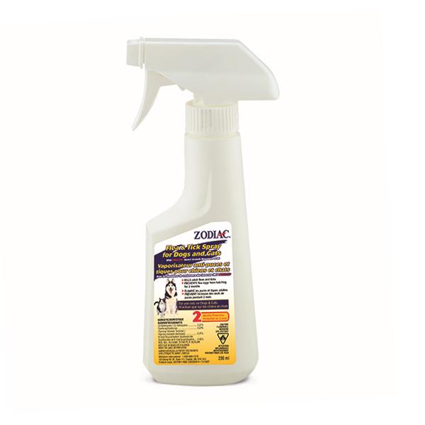Zodiac Flea & Tick Spray for Cats & Dogs, 236-mL