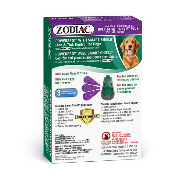 Zodiac Powerspot Smart Shield & Tick Control for Dogs Over 14-kg