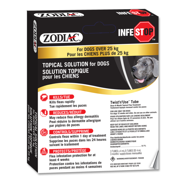 Zodiac Infestop Flea Topical Solution for Dogs, Over 25-kg