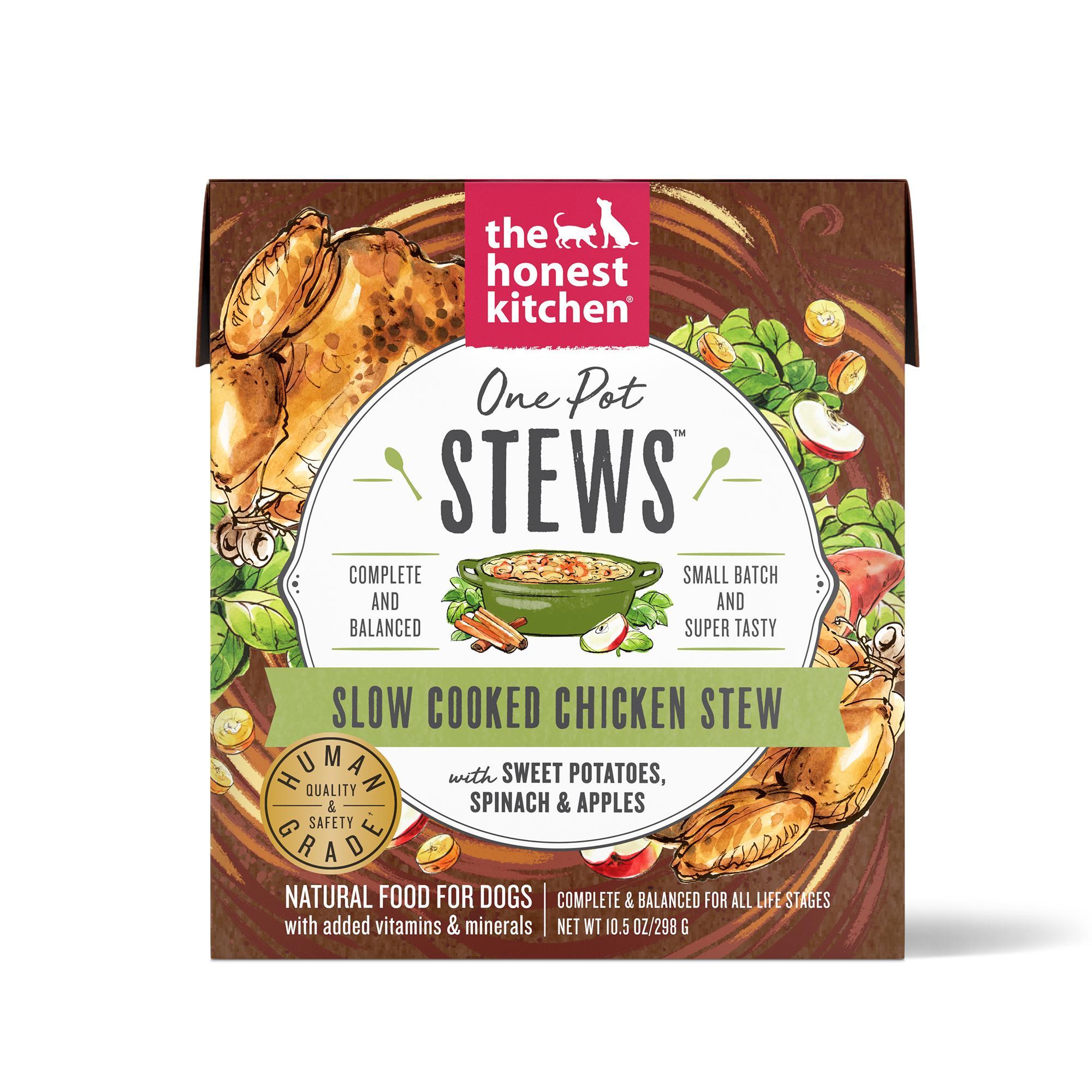 The Honest Kitchen One Pot Stews Slow Cooked Chicken Stew Wet Dog Food, 10.5-oz