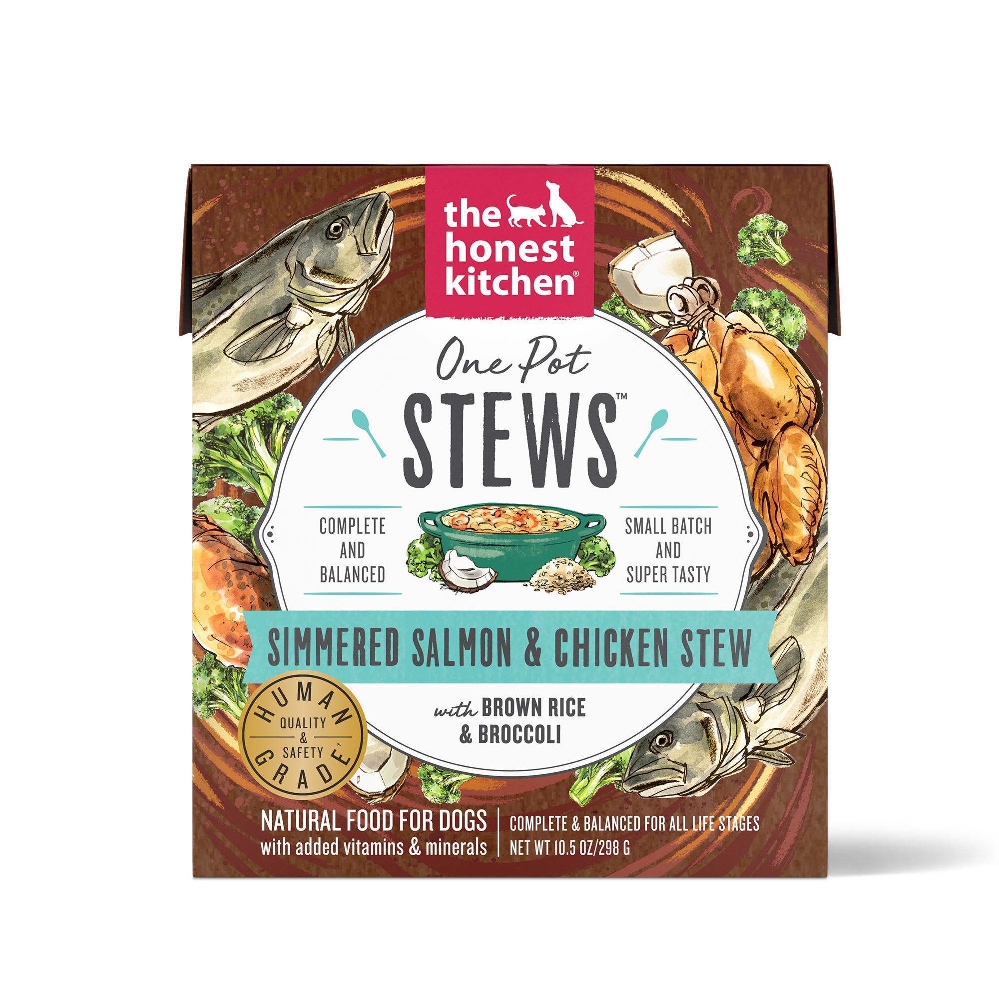 The Honest Kitchen One Pot Stew Simmered Salmon & Chicken Stew Wet Dog Food, 10.5-oz