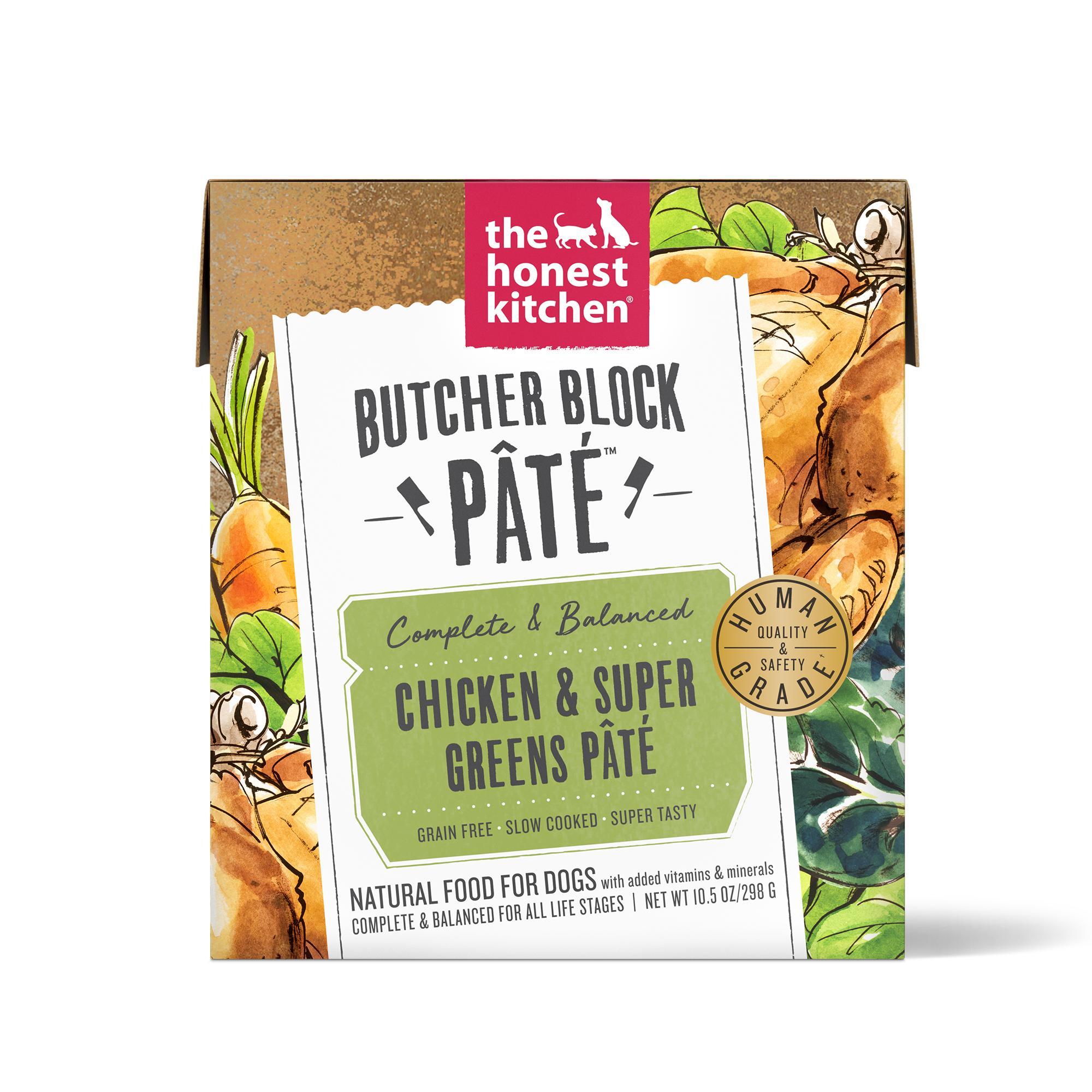 The Honest Kitchen Butcher Block Pate Chicken & Super Greens Wet Dog Food, 10.5-oz