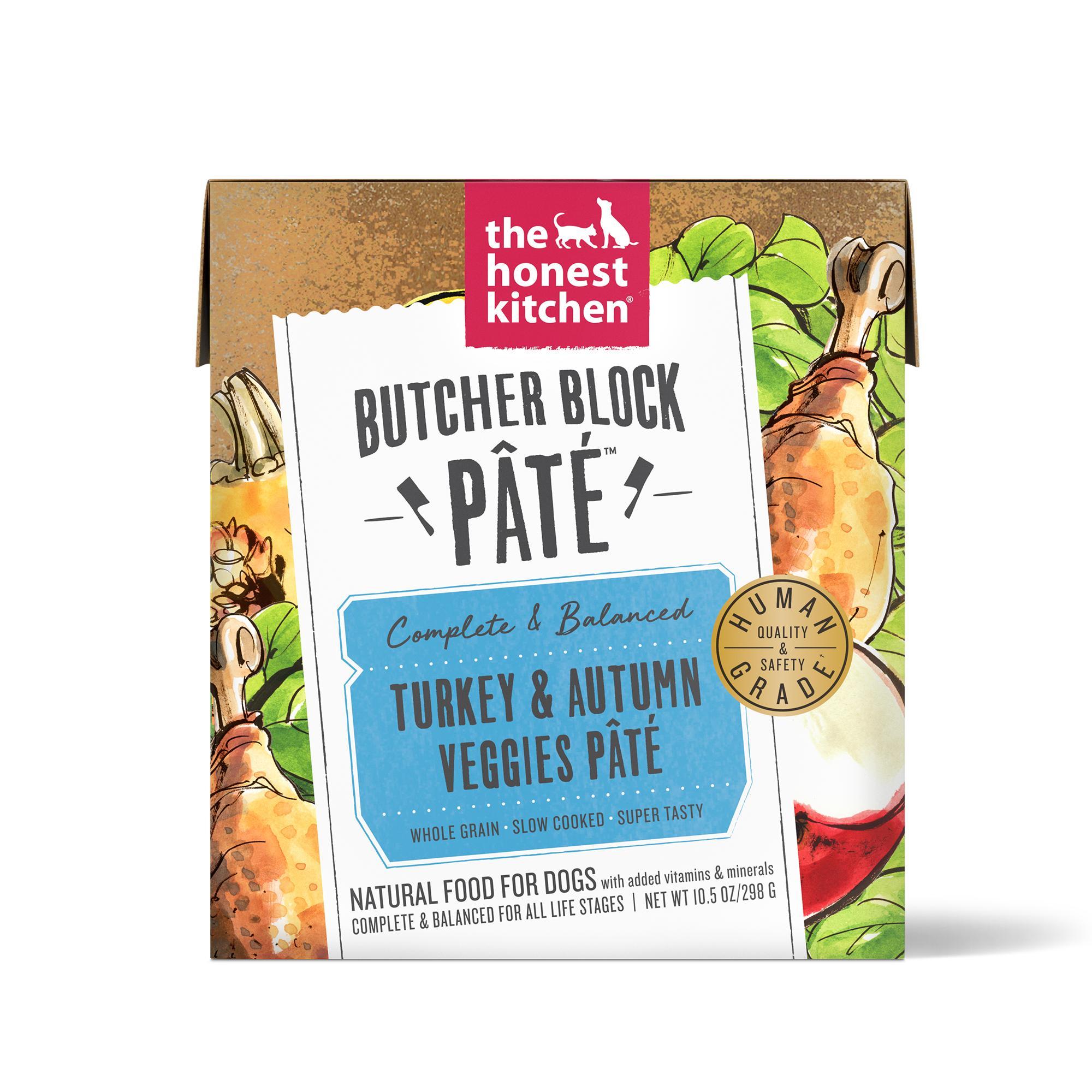 The Honest Kitchen Butcher Block Pate Turkey & Autumn Veggies Wet Dog Food, 10.5-oz