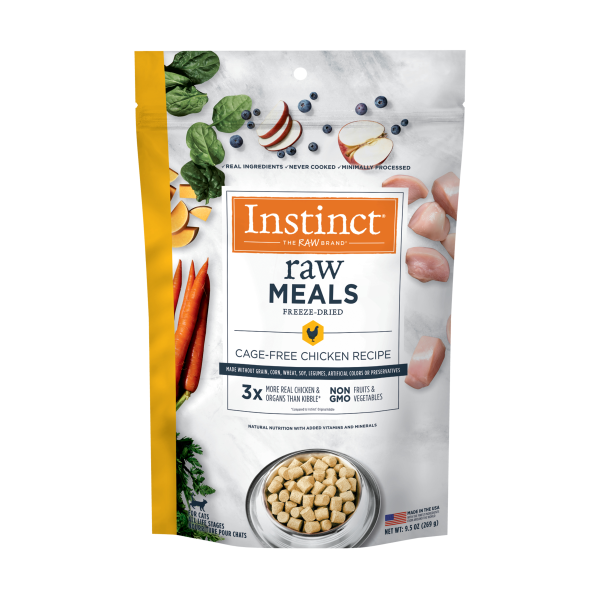 Instinct by Nature's Variety Raw Meals Cage-Free Chicken Freeze-Dried Cat Food, 9.5-oz