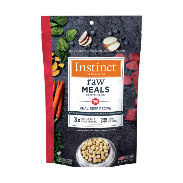 Instinct by Nature's Variety Raw Meals Real Beef Freeze-Dried Dog Food, 9.5-oz