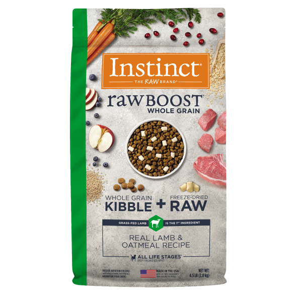 Instinct by Nature's Variety Raw Boost Whole Grain Real Lamb & Oatmeal Dry Dog Food Image