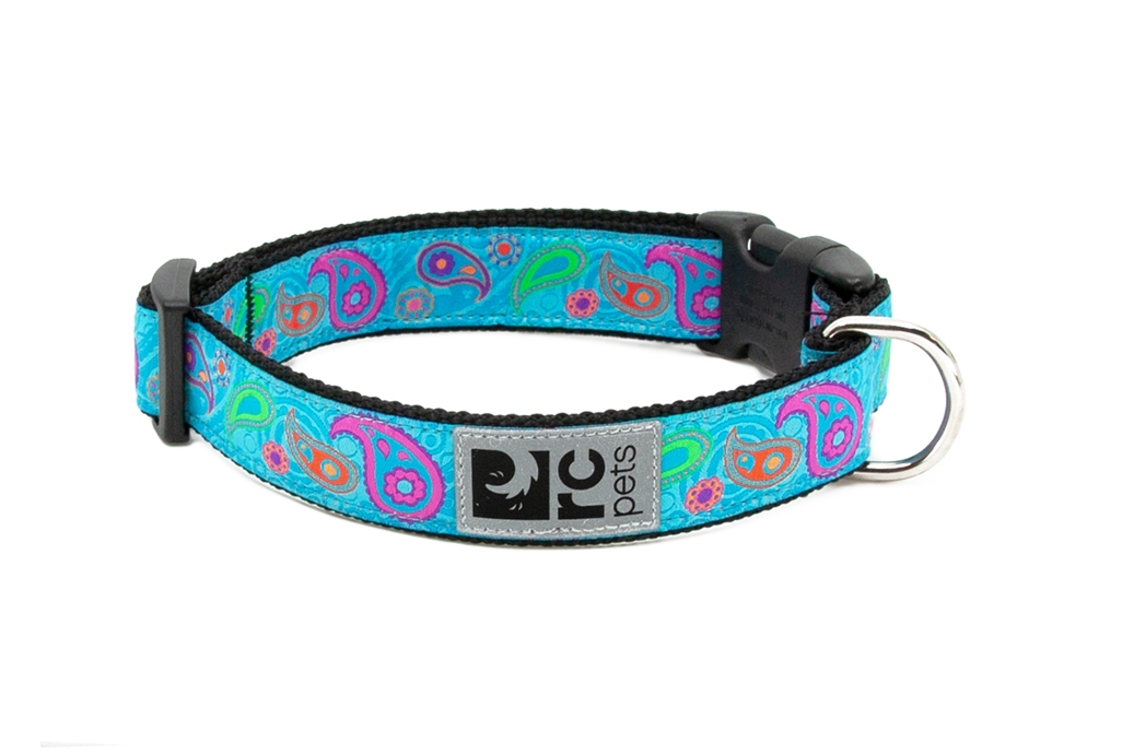 RC Pet Products Clip Dog Collar, Tropical Paisley, Small