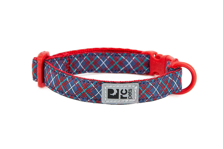 RC Pet Products Kitty Breakaway Cat Collar, Navy Tartan, 8-10-in