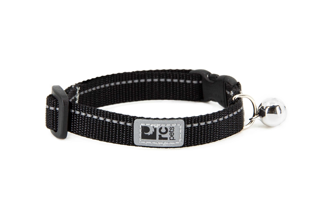 RC Pet Products Primary Kitty Breakaway Cat Collar, Black, 8-10-in