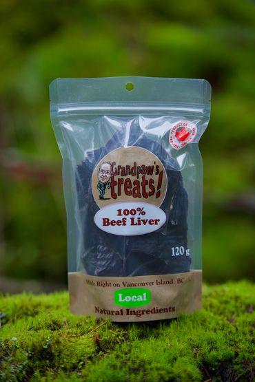 Grandpaw's Treats Beef Liver Dog Treats, 85-gram