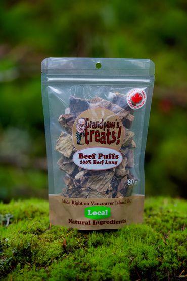Grandpaw's Treats Beef Puffs Dog Treats, 80-gram