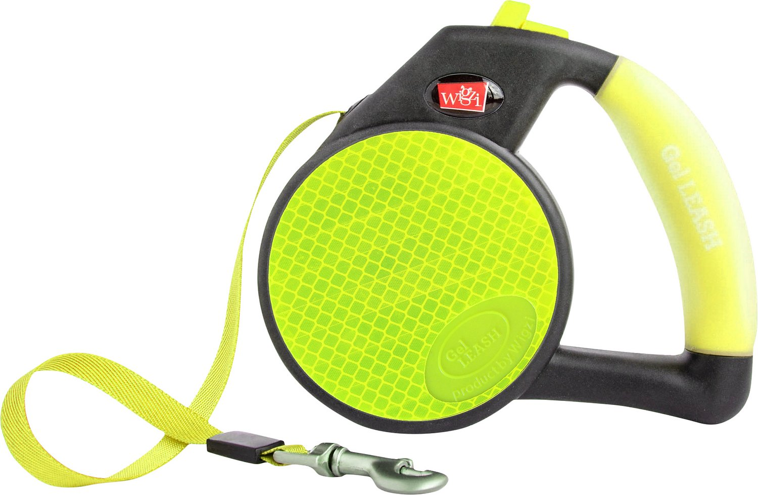 Wigzi Reflective Retractable Gel Leash, Yellow Image