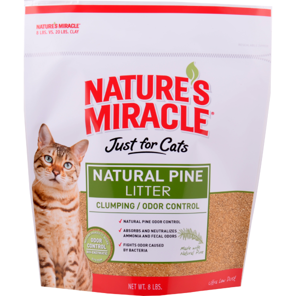 Nature's Miracle Just for Cats Natural Pine Cat Litter, 8-lb