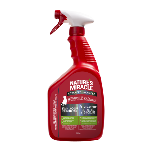 Nature's Miracle Advanced Stain & Odour Eliminator Cat Spray, 946-mL