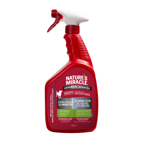 Nature's Miracle Advanced Stain & Odour Eliminator Dog Spray, 946-mL