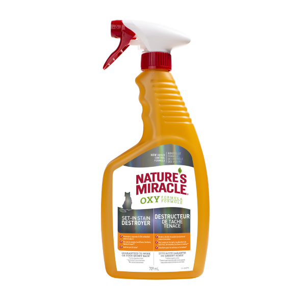 Nature's Miracle Oxy Set-In Stain Destroyer Cat Spray, 709-mL