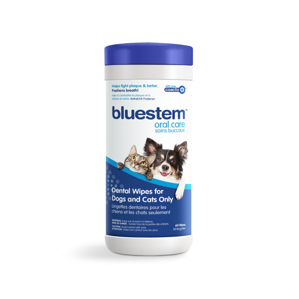 Bluestem Dental Wipes for Cats & Dogs, 60-count