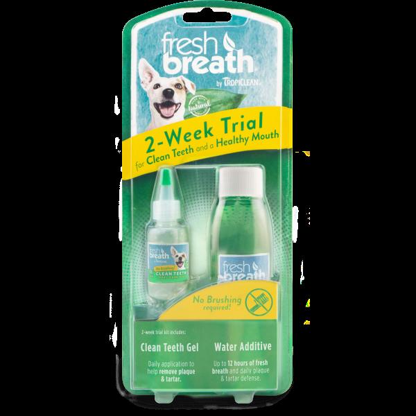 TropiClean Fresh Breath 2-Week Dental Trial Kit for Dogs Image
