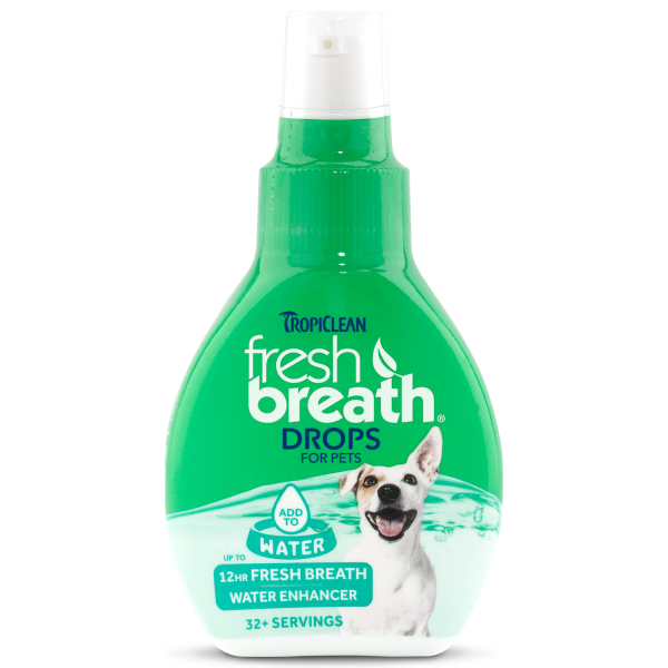 TropiClean Fresh Breath Water Drops for Cats & Dogs, 2.2-oz (Size: 2.2-oz) Image