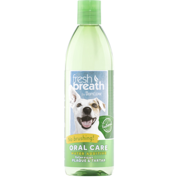 TropiClean Fresh Breath Water Additive for Dogs, 473-mL