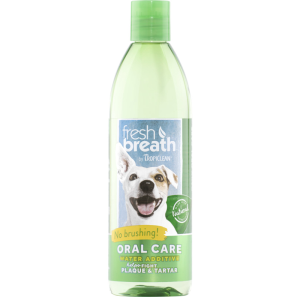 TropiClean Fresh Breath Water Additive for Dogs, 1-liter