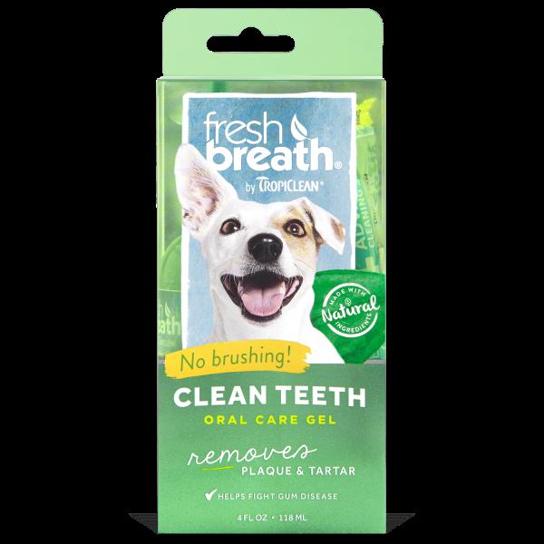 TropiClean Fresh Breath Clean Teeth Gel for Dogs, 4-oz