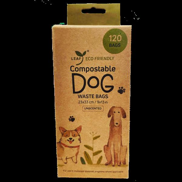 Leaf Compostable Dog Waste Bags, 120-count