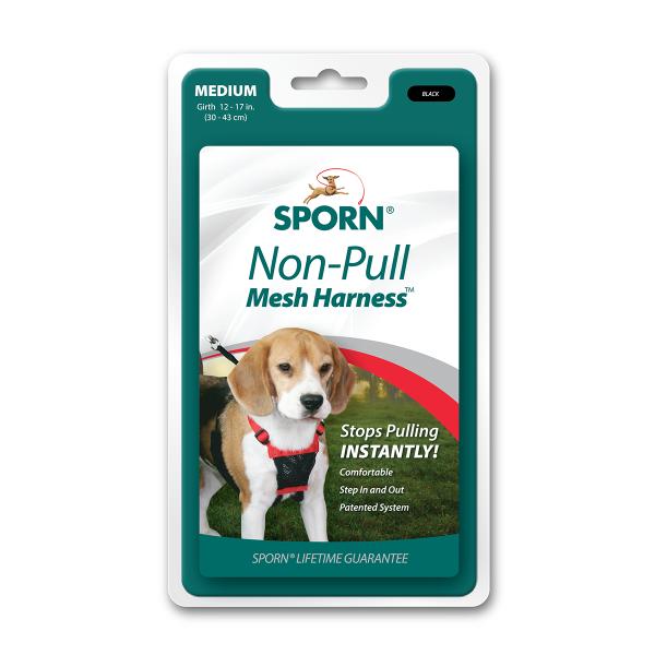 Sporn Non-Pull Mesh Dog Harness, Black Image