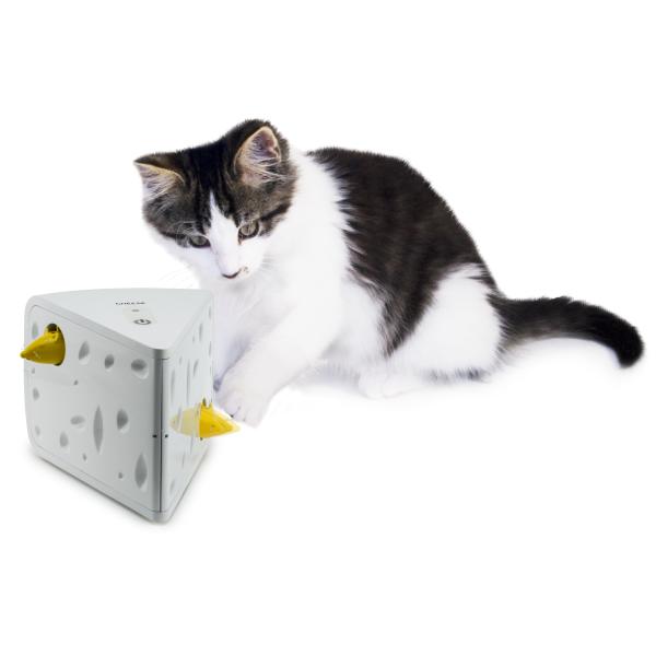 FroliCat Swiss Cheese Automatic Teaser Cat Toy