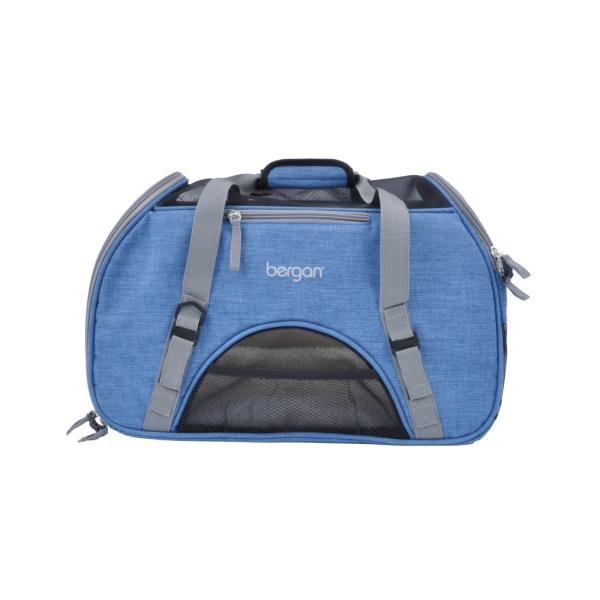 Bergan Dog Comfort Pet Carrier, Blue/Grey, Large (Size: Large) Image