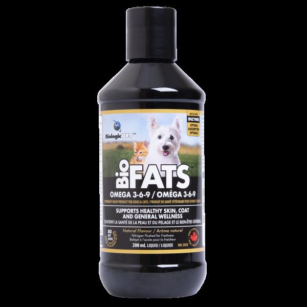 BiologicVet BioFATS Omega 3-6-9 Cat & Dog Supplement, 200-mL