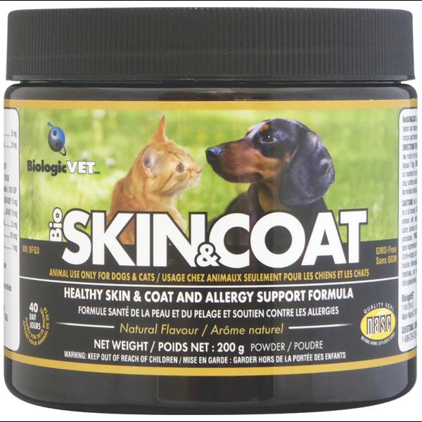 BiologicVet BioSKIN&COAT Pet Supplement, 200-gram