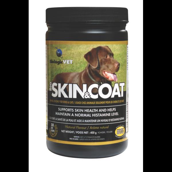 BiologicVet BioSKIN&COAT Pet Supplement, 400-gram