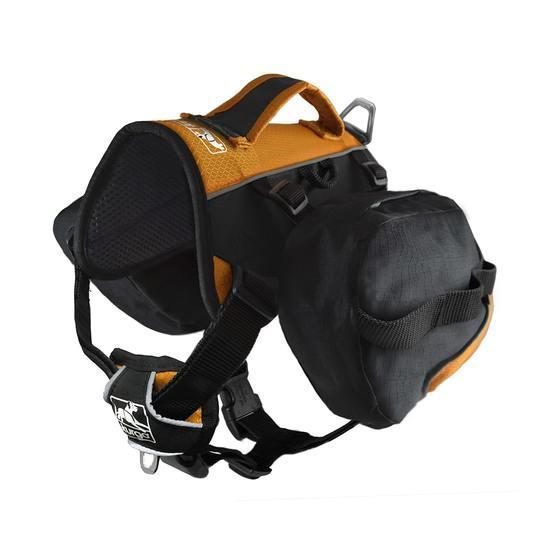 Kurgo Baxter Dog Backpack, Black/Orange, Big Baxter