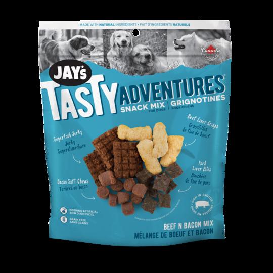 Jay's Tasty Adventures Beef & Bacon Snack Mix Dog Treats, 100-gram