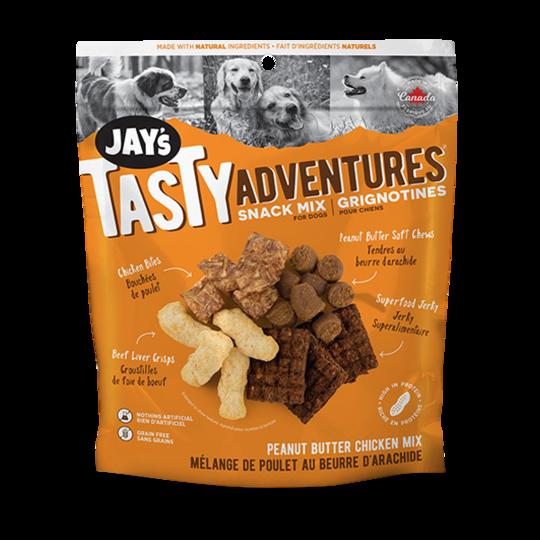 Jay's Tasty Adventures Peanut Butter Chicken Snack Mix Dog Treats, 100-gram