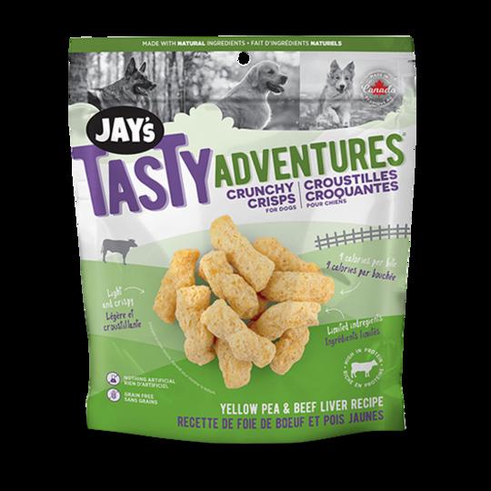 Jay's Tasty Adventures Yellow Pea & Beef Liver Country Crisps Dog Treats, 85-gram