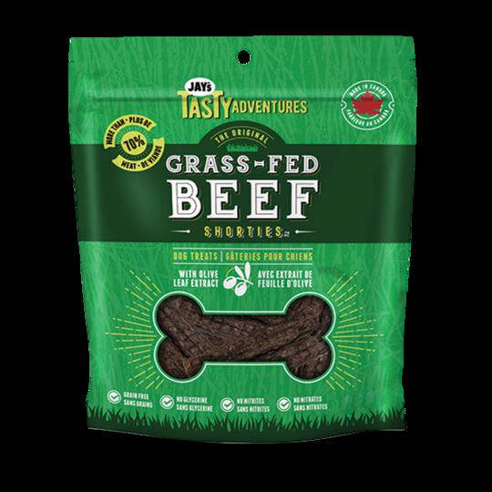 Jay's Tasty Adventures Grass-Fed Beef Shorties Dog Treats, 85-gram