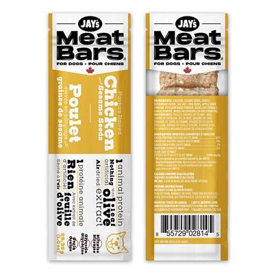 Jay's Meat Bars Pasture Raised Chicken & Sesame Dog Treats, 28.35-gram
