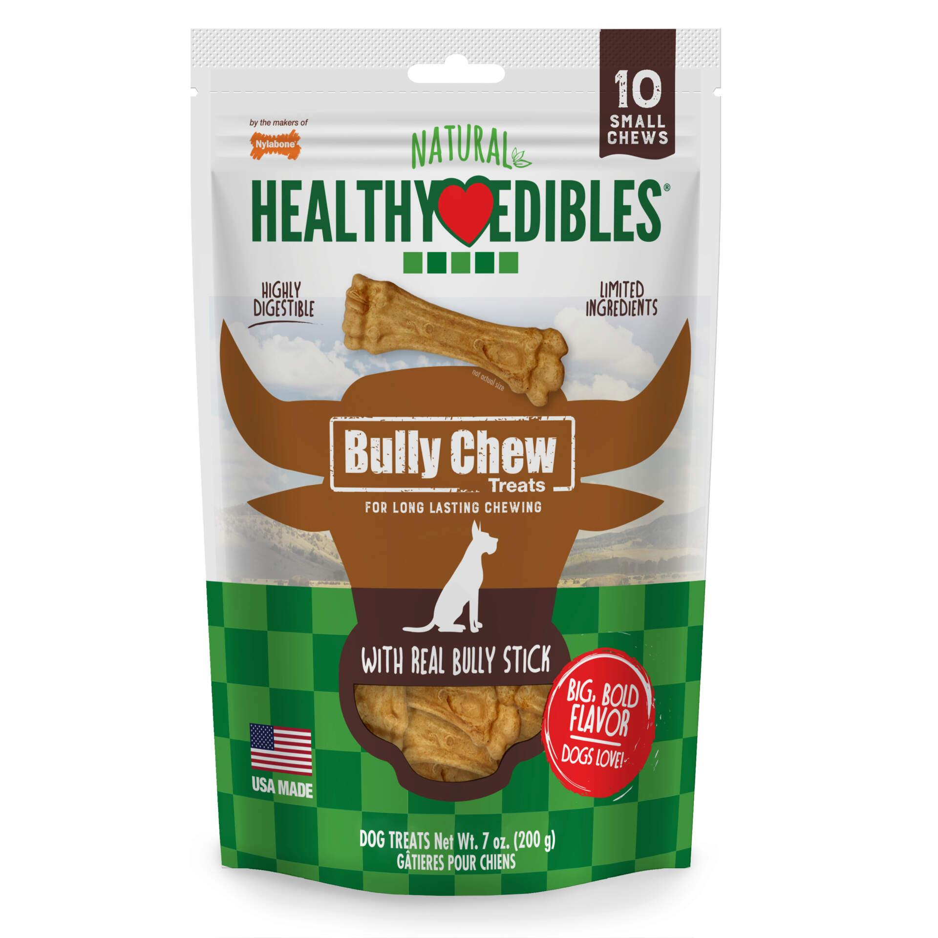 Nylabone Natural Healthy Edibles Bully Chews Dog Treats Image